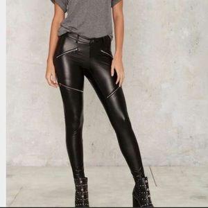 Nasty Gal cycle Moto vegan leather pants New
